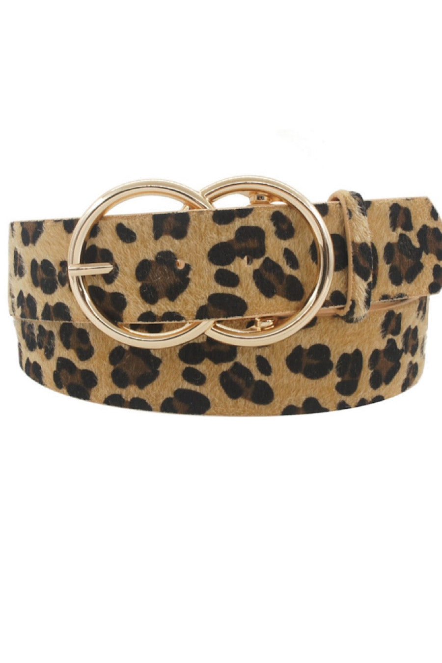 Leopard Print Hide Belt