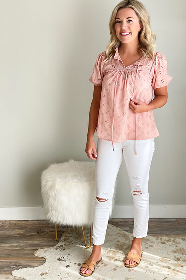 Shawna Eyelet Top