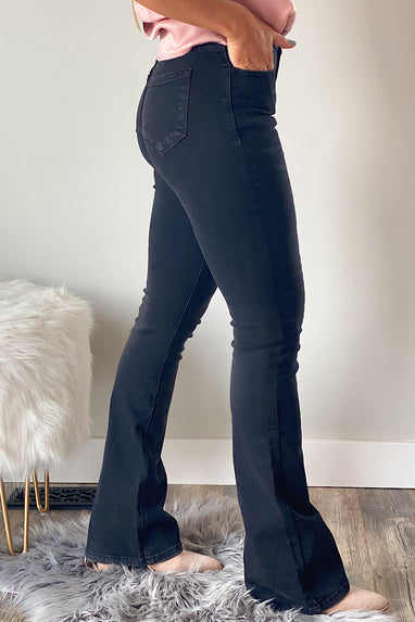 Motorway High Rise Waistband Flare Jeans