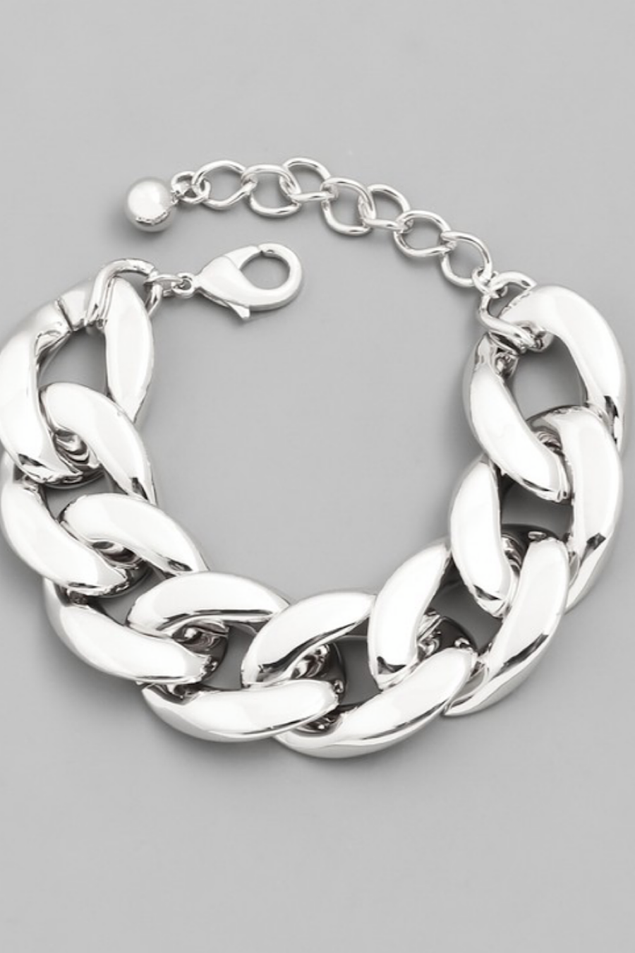 Chunky Chain Link Bracelet in Gold or Silver