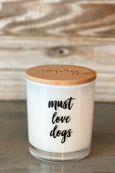 Unplug Must Love Dogs Candle in several scents