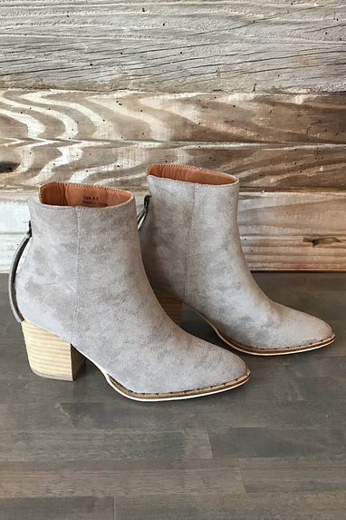 Wendy Bootie in Grey