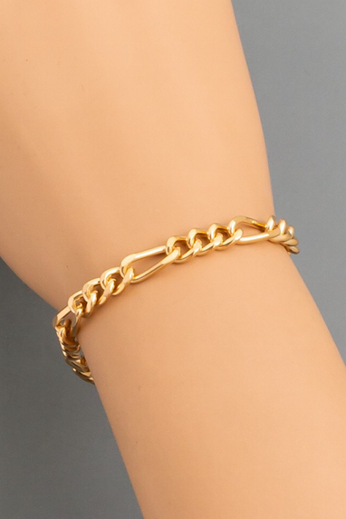 Curb Chain Link Bracelet in Gold or Silver