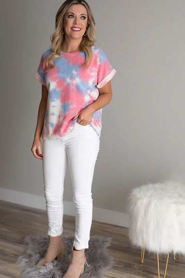 Eye Candy Tie-Dye S/S Top