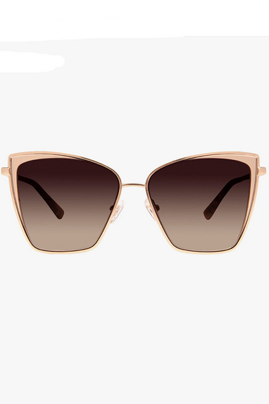 DIFF Becky Rose Gold & Wine Sunglasses