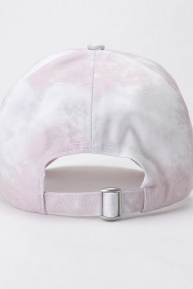 Cotton Tie-Dye Baseball Cap in Pink