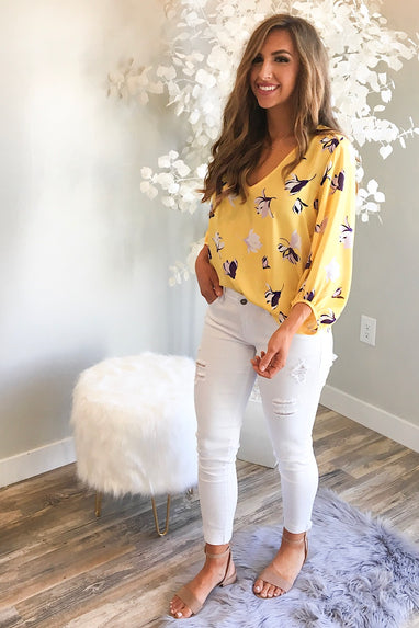 Billowy Floral Blouse
