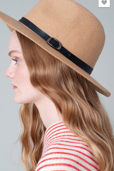 Kelli Fedora Wool Hat in Camel