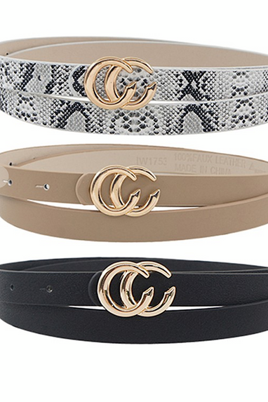 Skinny CC Vegan Leather Belts in 6 colors!