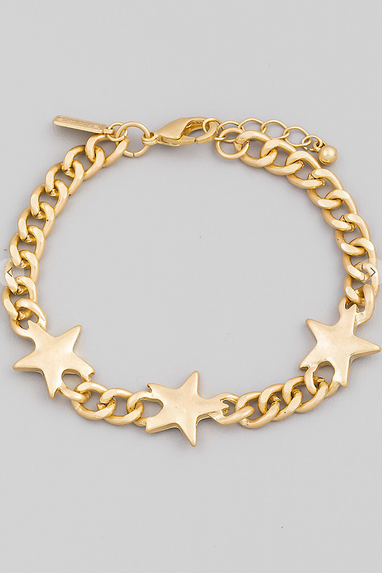 Star Chained Bracelet