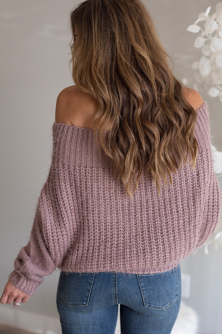 Off The Shoulder Sweater in Mocha