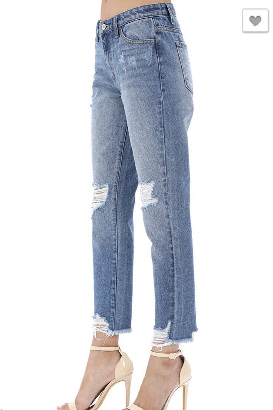 High Rise Classic Fit Jeans