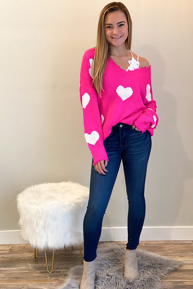 All My Heart Distressed Sweater