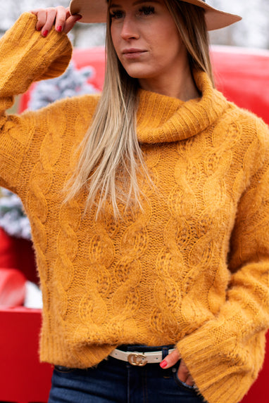 Christina Cable Knit Sweater