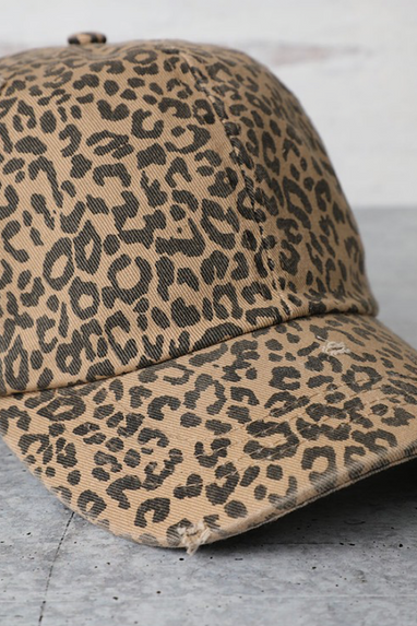 Leopard Cotton Cap