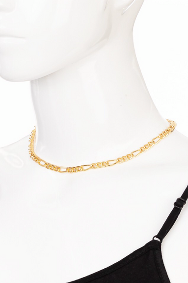 Curb Chain Link Necklace in Gold