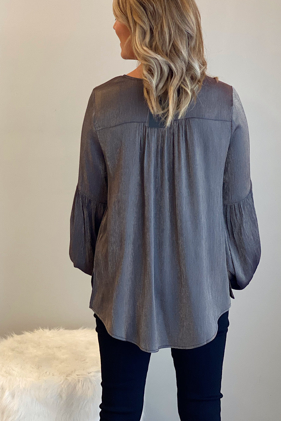 Heavy Metal Metallic Blouse