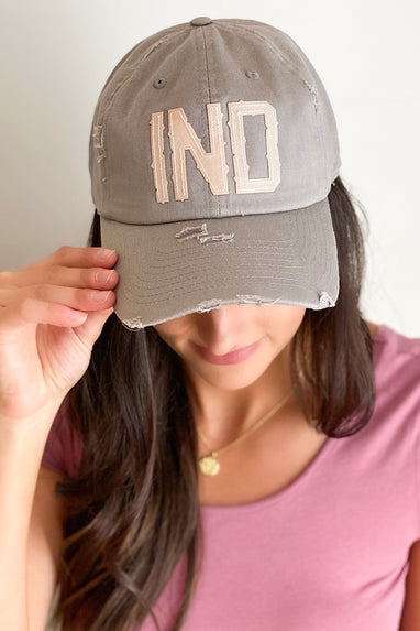 IND Indiana Initial Patch Hat