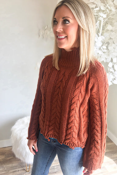 Copper Distressed Sweater
