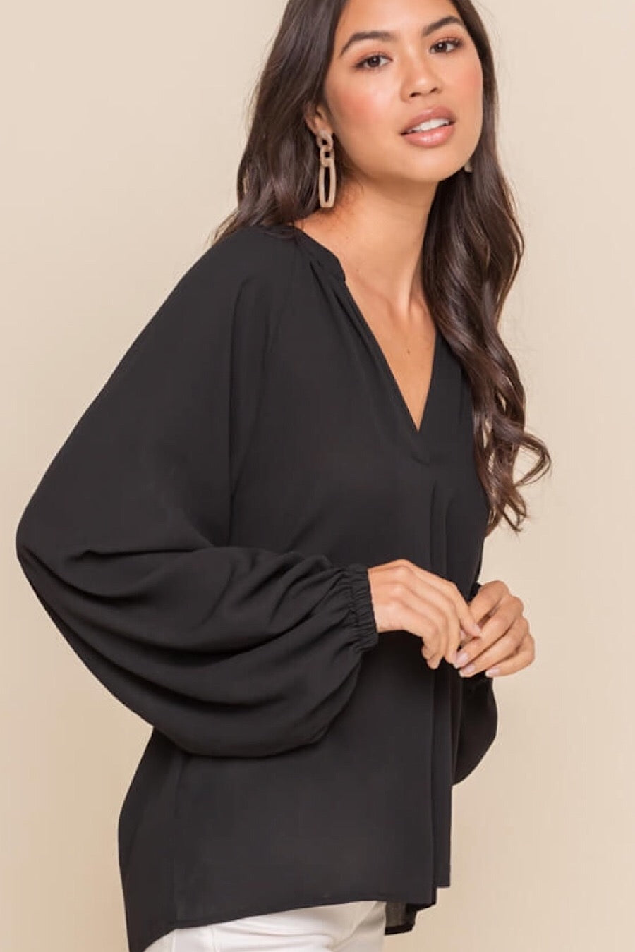 Lexi Balloon Sleeve Blouse