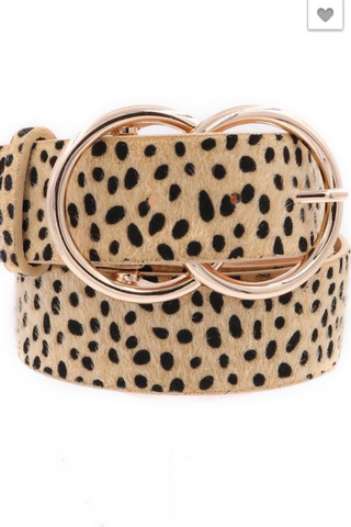 Cheetah Print Hide Belt