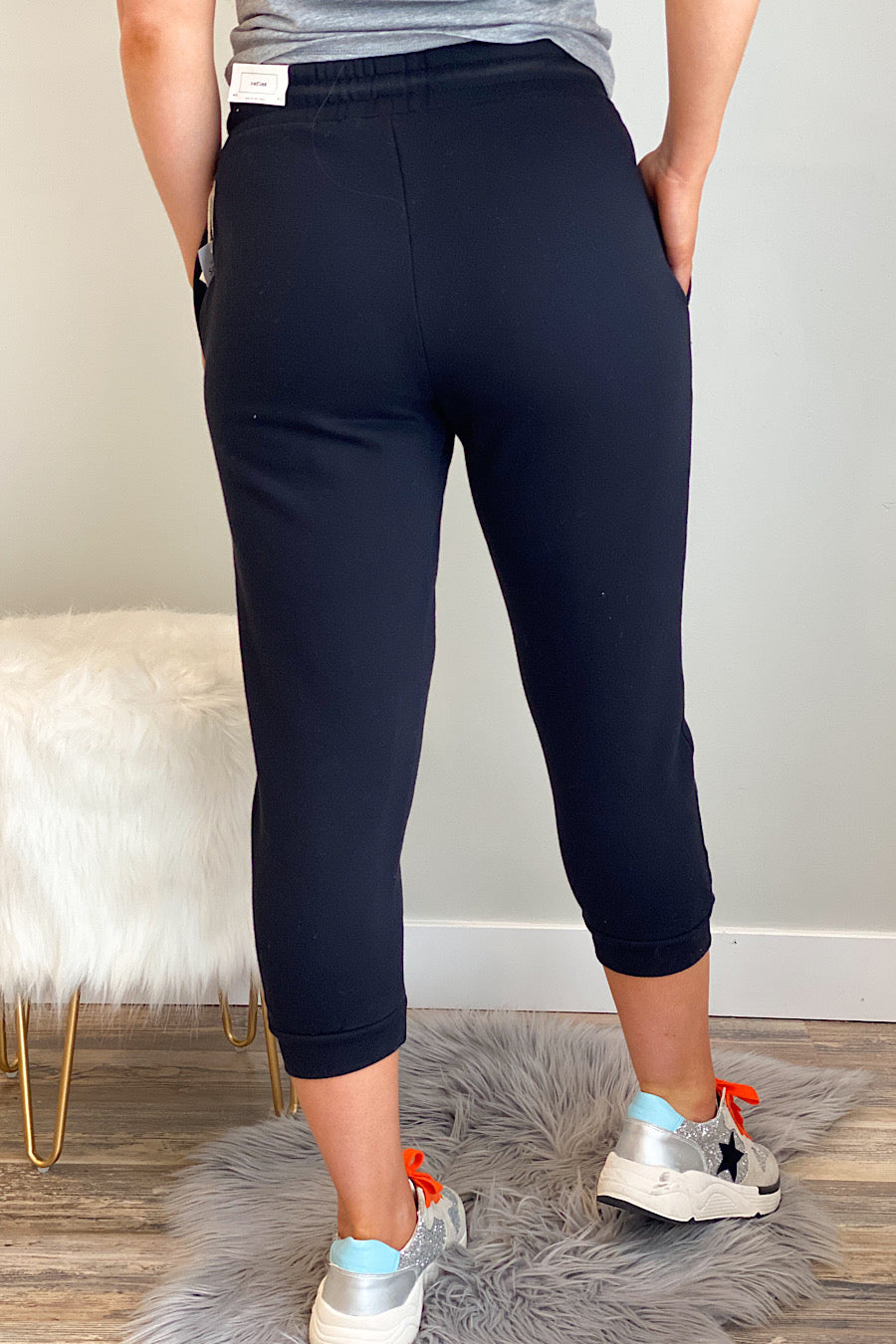 High Rise Cropped Joggers