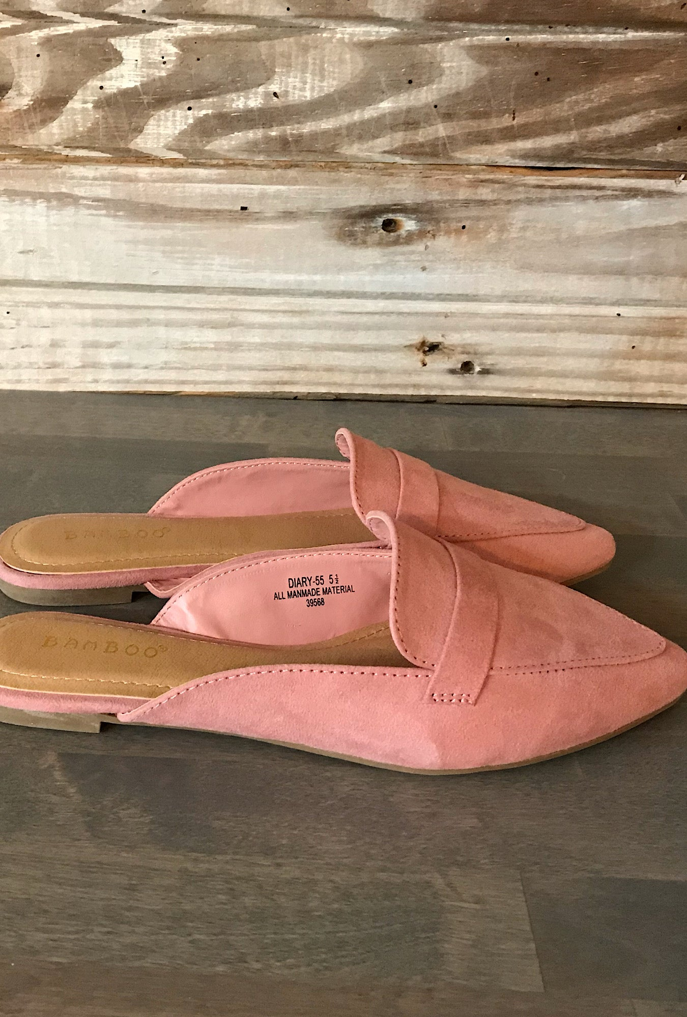 Diary Slide Flats in Blush