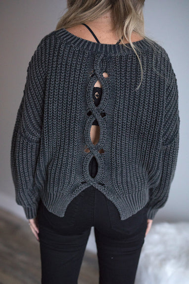 Braided Back Sweater