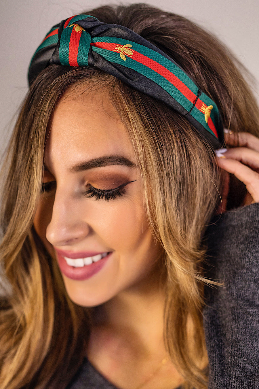 Gucci Dupe Bug Print Satin Headband