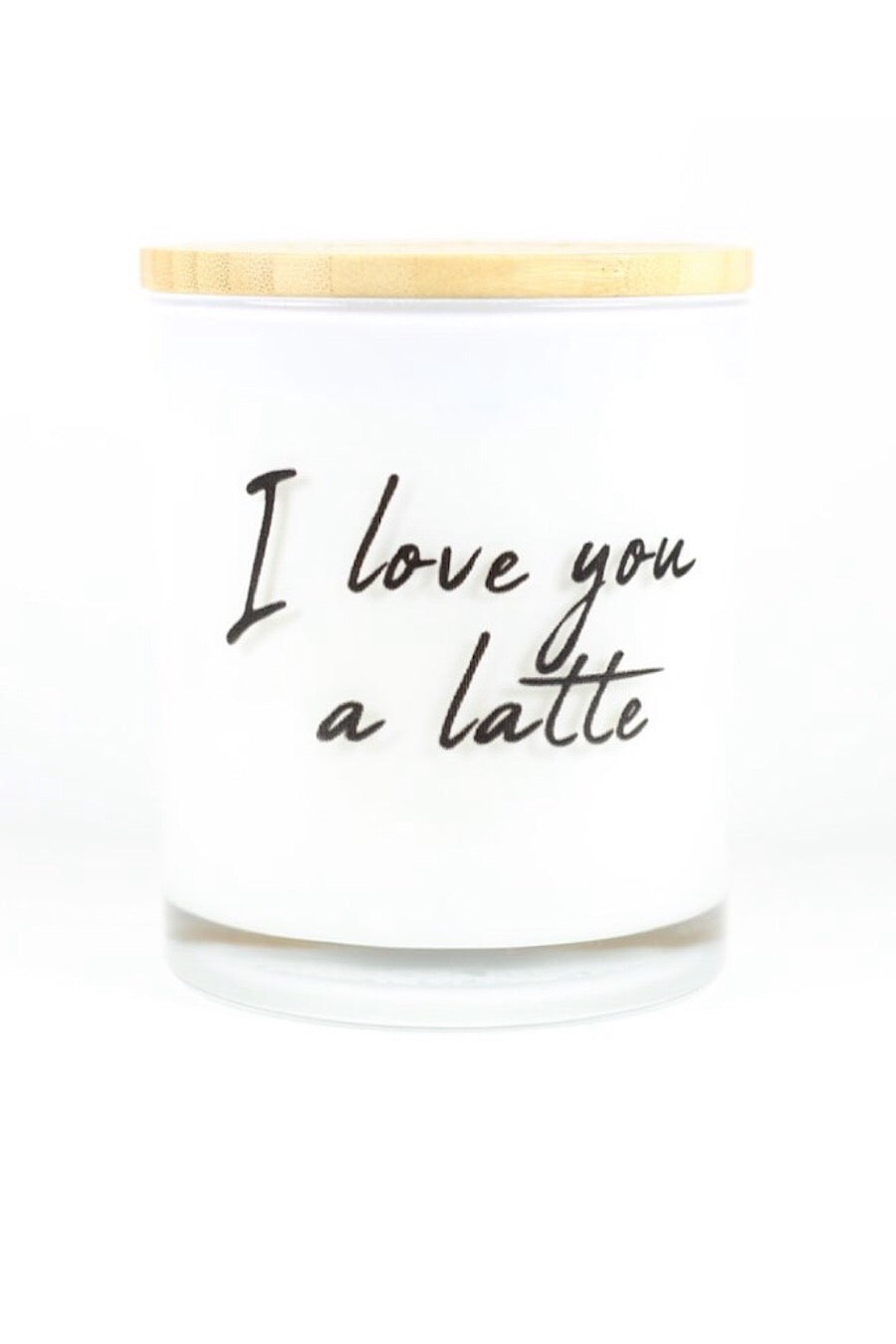 I Love You Latte Candle in Hazelnut Coffee or Peppermint Mocha