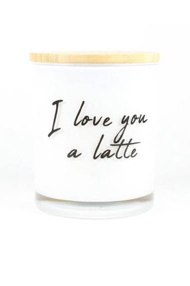 I Love You Latte Candle in Hazelnut Coffee
