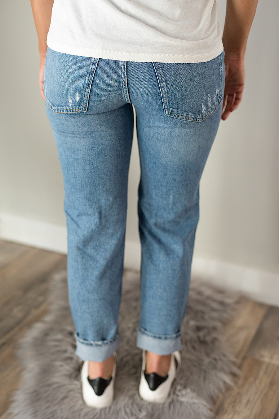 Free People High Rise Mom Jeans
