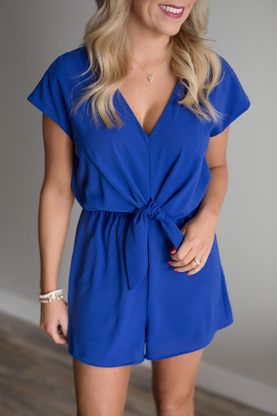 Royalty Blue Romper