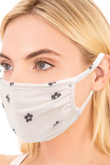 Cotton Face Mask in Leopard, Zebra, Snakeskin or Flowers