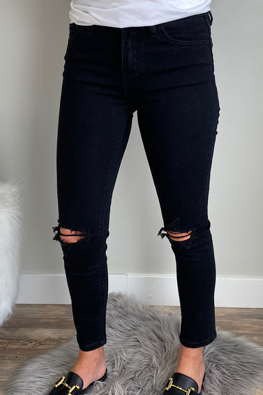 Josie Distressed Jeans in Black Spice