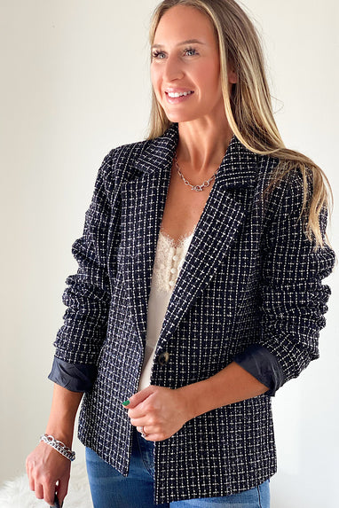 Boss Babe Tweed Blazer