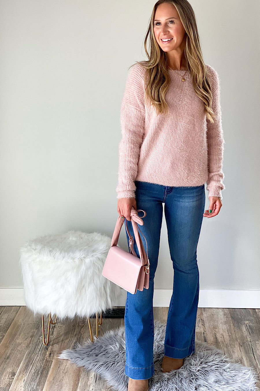 Watch my Back Mohair Open Back Sweater