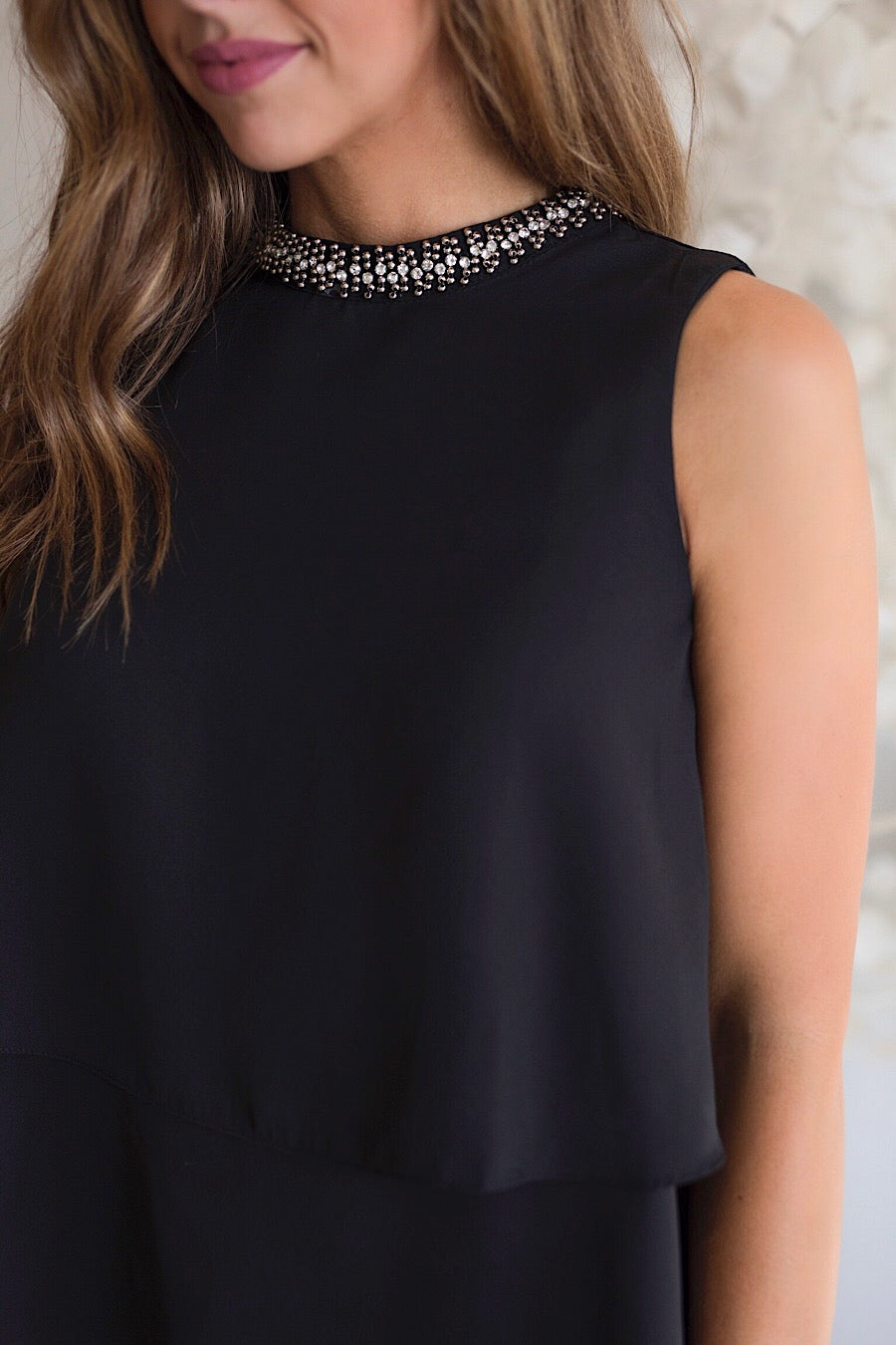 Nightfall Beaded Neck Top