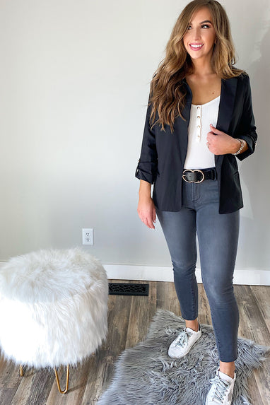 Girl Boss Blazer in Black