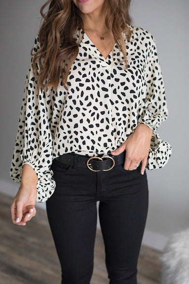 Brooklyn Cheetah Blouse