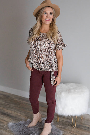 Welcome to the Jungle Snakeskin Blouse