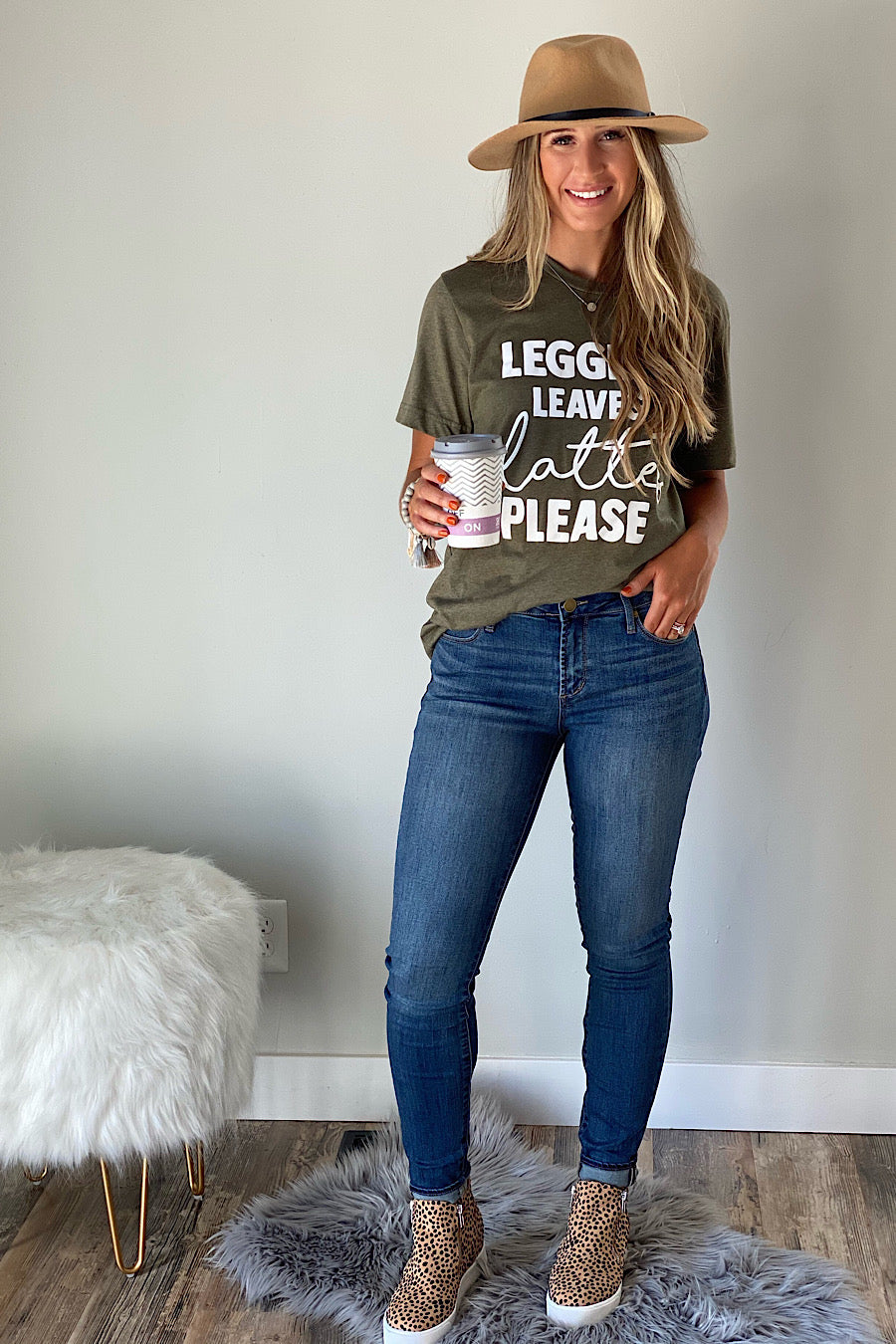 Leggings, Leaves & Lattes Fall T-Shirt