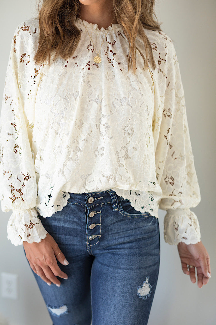 Dakota Crochet Lace Top