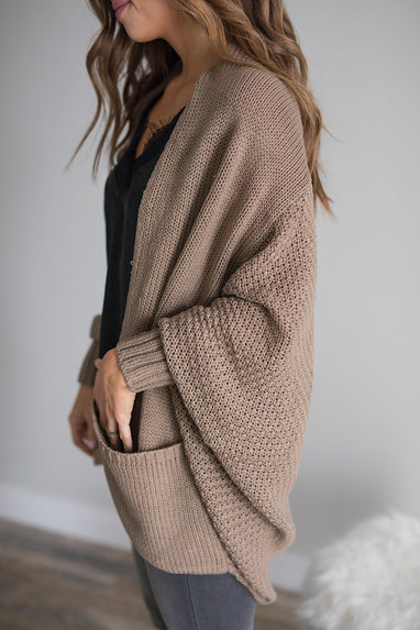 Dolman Cardigan in Earth Grey