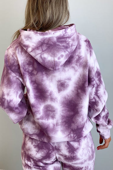 Downward Spiral Tie Dye Hoodie in Wine