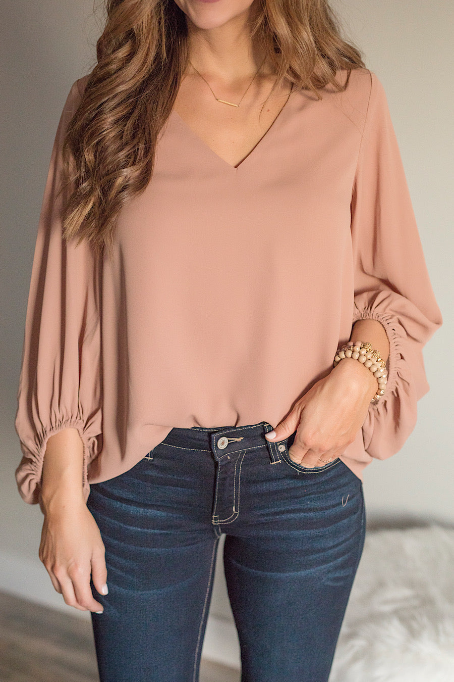 Ginger Balloon Sleeve Blouse