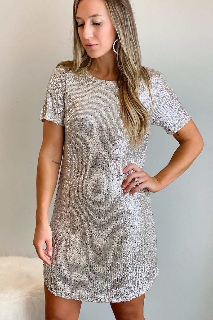 BB Dakota Hit the Lights Sequin Dress