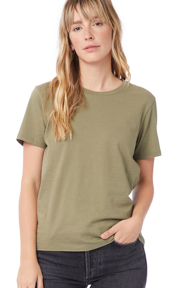 Her Go-To T-Shirt in Military