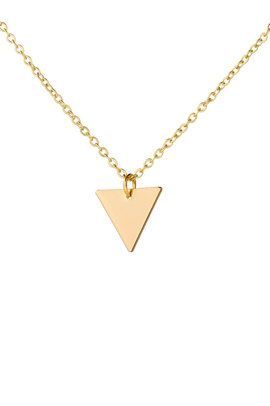 Dainty Triangle Necklace in Gold