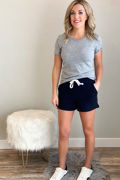 French Terry Shorts in Black